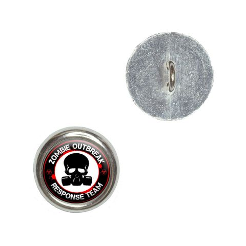 Zombie Outbreak Response Team Gas Mask - Bloody Red Buttons - Set of 4