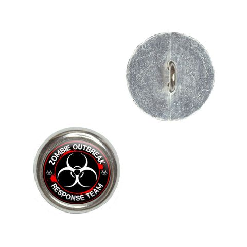 Zombie Outbreak Response Team Biohazard - Bloody Red Buttons - Set of 4