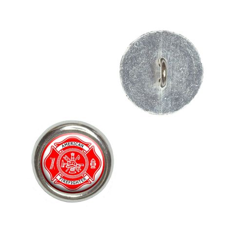 Firefighter Firemen Maltese Cross - American Firefighter - Red Buttons - Set of 4