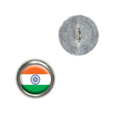 India Indian Flag Buttons - Set of 4