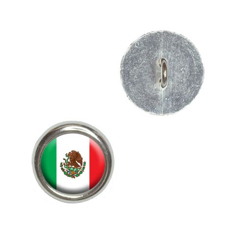 Mexico Mexican Flag Buttons - Set of 4