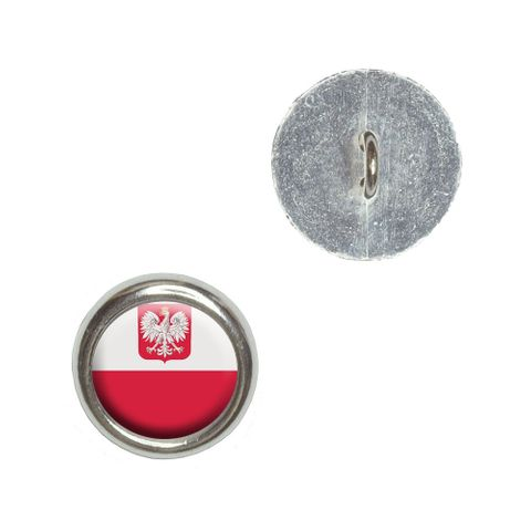 Poland Polish Flag Buttons - Set of 4