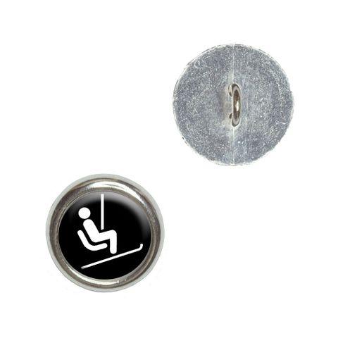 Skiing Ski Lift Buttons - Set of 4