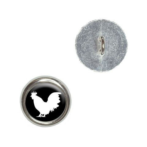 Rooster - Cock Buttons - Set of 4