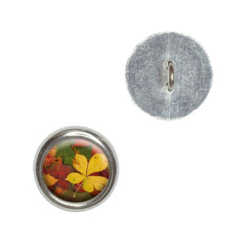 Colorful Autumn Fall Leaves Buttons - Set of 4