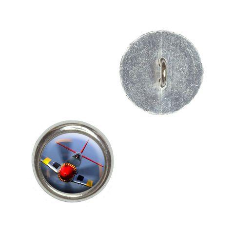 World War 2 II Fighter Plane Aircraft Buttons - Set of 4