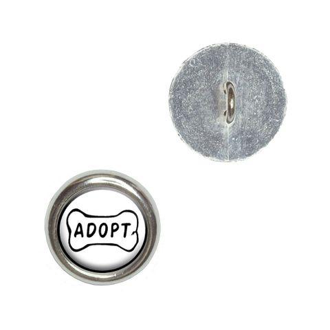 Adopt Dog Bone - Animal Shelter Adoption Buttons - Set of 4