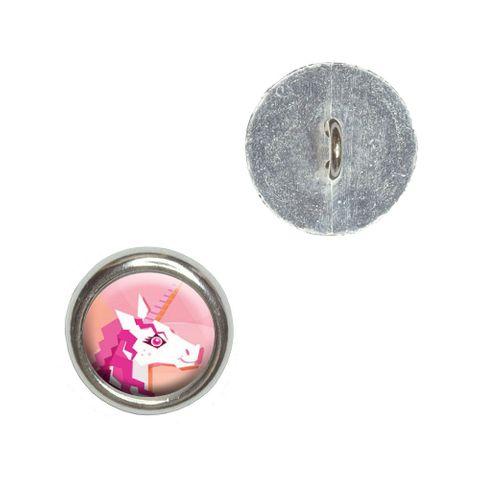 Geometric Unicorn Pink - Fantasy Buttons - Set of 4