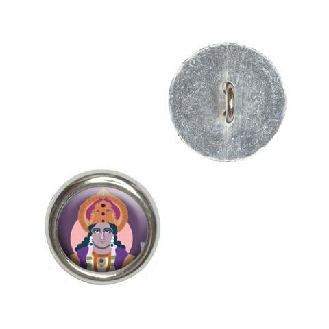 Hindu Deity - Vishnu Buttons - Set of 4