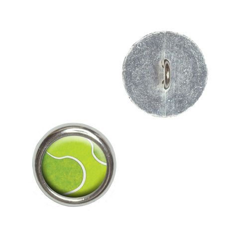 Tennis Ball Sporting Goods Sportsball Buttons - Set of 4
