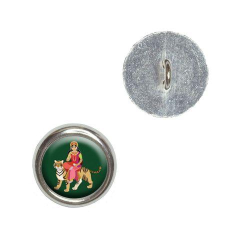 Hindu Deity Durga Buttons - Set of 4