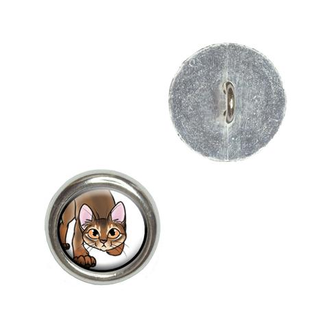 Abyssinian Cat - Pet Buttons - Set of 4