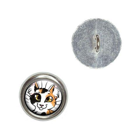 Calico Cat - Pet Buttons - Set of 4