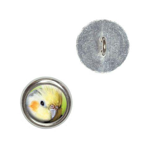 Cockatiel - Bird Pet Buttons - Set of 4