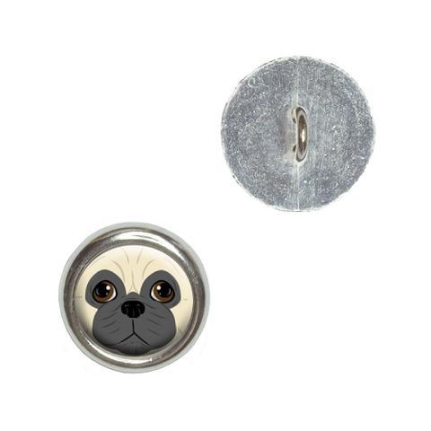 Pug Face - Dog Pet Buttons - Set of 4