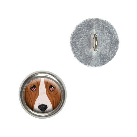 Basset Hound Face - Dog Pet Buttons - Set of 4