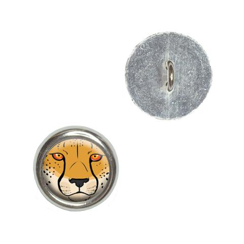 Cheetah Face - Safari Big Cat Buttons - Set of 4