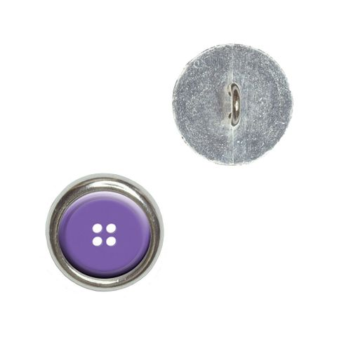 Purple Clothing Button - Sewing Buttons - Set of 4