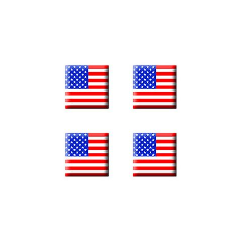 US American Flag - Set of 3D Stickers