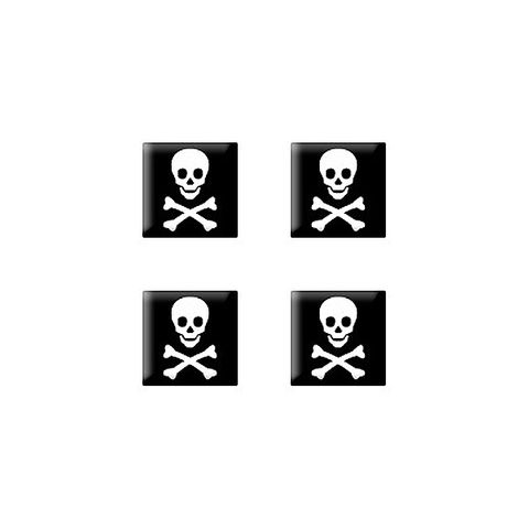 Pirate Skull and Crossbones - Set of 3D Stickers