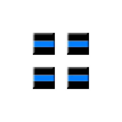 Thin Blue Line - Police - Set of 3D Stickers