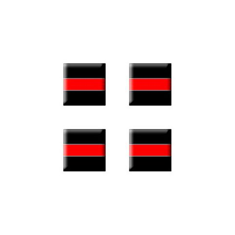 Thin Red Line - Firefighter - Set of 3D Stickers