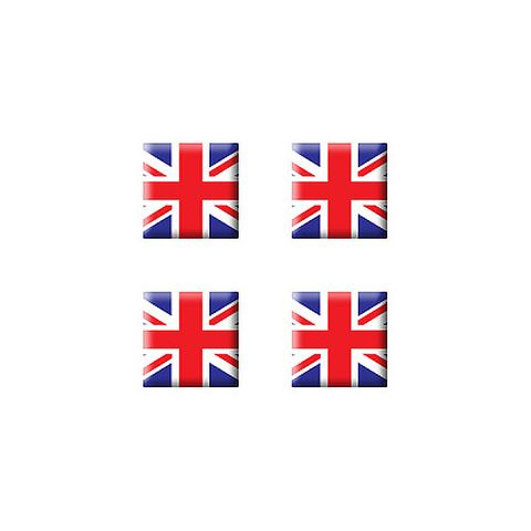 British Great Britain Flag - Set of 3D Stickers