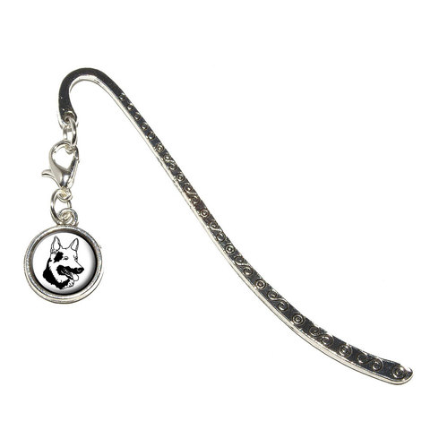 German Shepherd - Dog Metal Bookmark with Charm