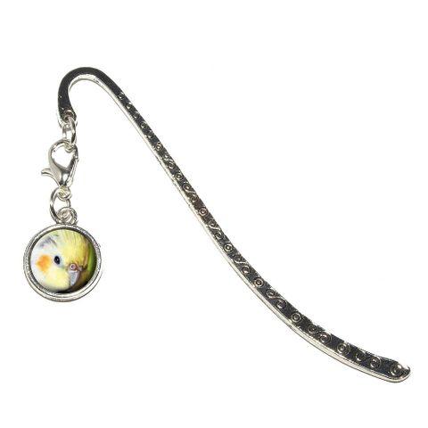 Cockatiel - Bird Pet Metal Bookmark with Charm