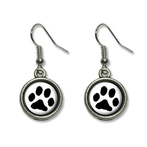 Paw Print - Pet Dog Cat Dangling Drop Earrings