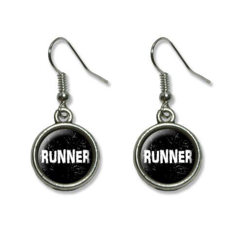 Runner Distressed Dangling Drop Earrings