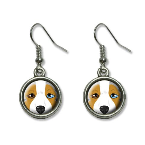 Australian Shepherd Face - Aussie Dog Pet Dangling Drop Earrings