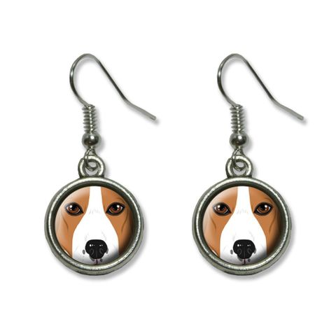 Beagle Face - Dog Pet Dangling Drop Earrings