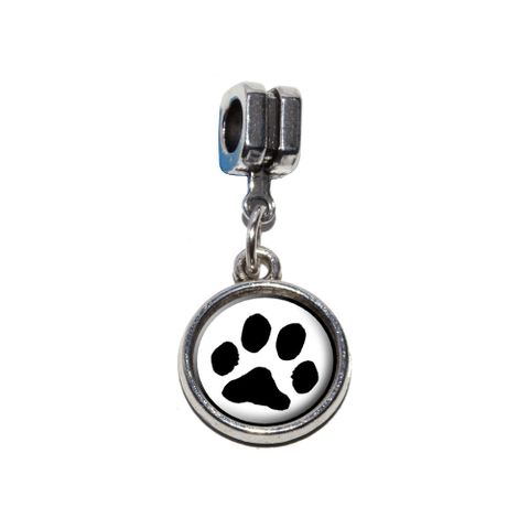 Paw Print - Pet Dog Cat European Style Bracelet Charm