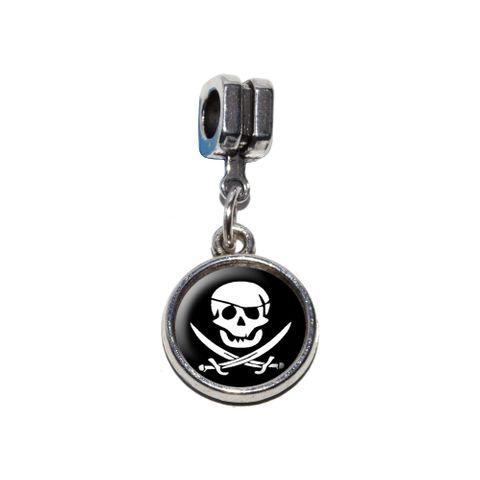 Pirate Skull Crossed Swords - Jolly Roger European Style Bracelet Charm