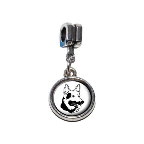 German Shepherd - Dog European Style Bracelet Charm