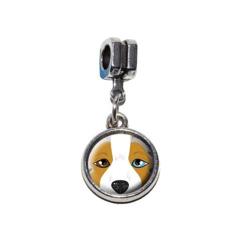 Australian Shepherd Face - Aussie Dog Pet European Style Bracelet Charm