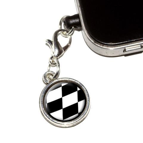 Checkered Flag - Racing Mobile Phone Charm
