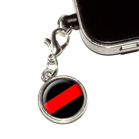 Thin Red Line Firefighters Mobile Phone Charm - No. 1