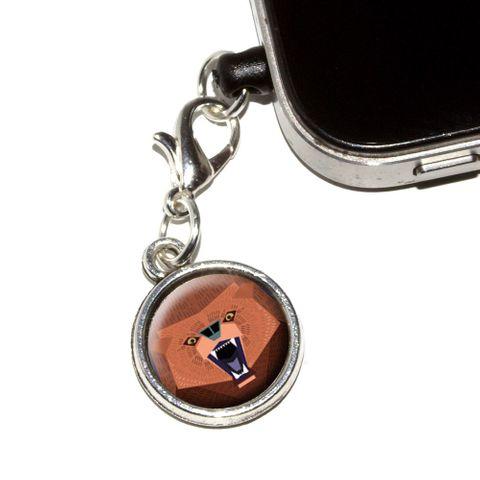 Geometric Bear Red Purple Mobile Phone Charm