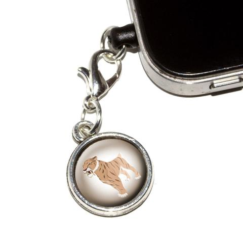 Saber-toothed Cat - Sabertooth Tiger Dinosaur Mobile Phone Charm