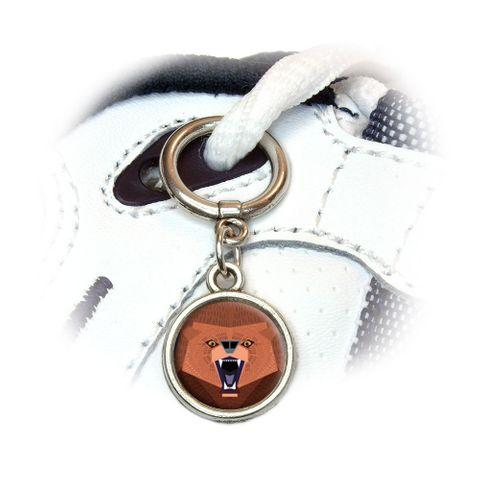 Geometric Bear Red Purple Shoe Charm
