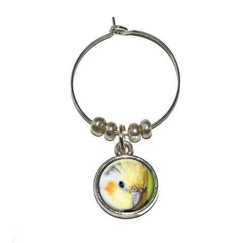 Cockatiel - Bird Pet Wine Glass Charm