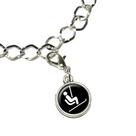 Skiing Ski Lift Bracelet Charm
