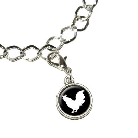 Rooster - Cock Bracelet Charm