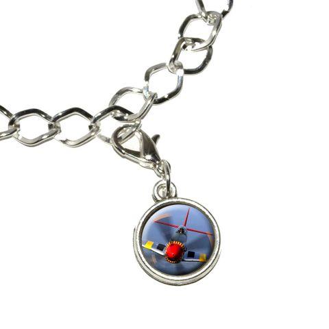 World War 2 II Fighter Plane Aircraft Bracelet Charm