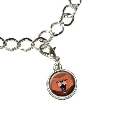 Geometric Bear Red Purple Bracelet Charm
