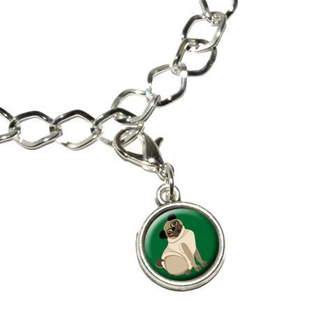 Pug Green - Dog Pet Bracelet Charm