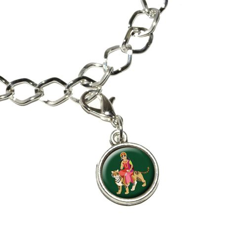Hindu Deity Durga Bracelet Charm