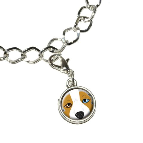 Australian Shepherd Face - Aussie Dog Pet Bracelet Charm
